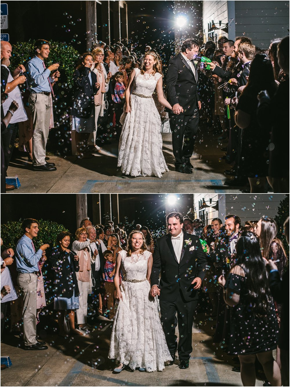 The groom was such a great sport when one of his guys shot the bubble gun right in his face. And the bride...kept smiling as she did all day!