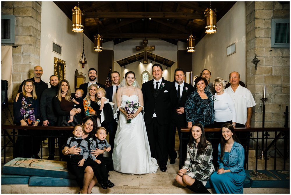 My Family!!! It's seldom (if ever) that we are in front of the lens at a wedding, but thanks to my amazing husband, who has perfected the art of a timed photo, we were able to be in this family photo (we are in the top left & our beautiful daughters are bottom right).
