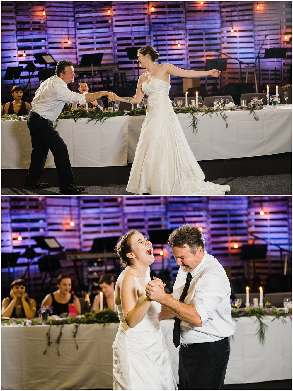 The daddy/daughter dance gets us every time! These two were so much fun to watch. They both have the most amazing sense of humor. Each time we watch these tho, we know we are one step closer to giving our girls away and have to remind ourselves to keep on breathing (and cherishing each little moment with them).