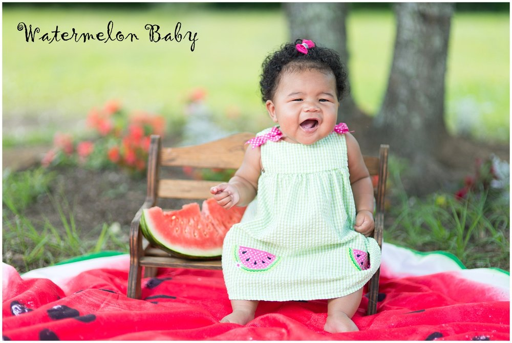 Just a few of our faves we took for Abi to be in our local Watermelon Festival Photo Contest.  She was already hot & tired when we did this, but she was such a champ!  How can ya not love her?!