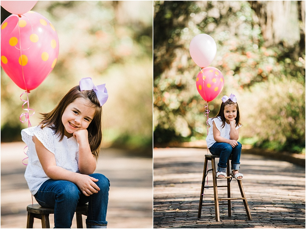 What's a birthday photo shoot without balloons?