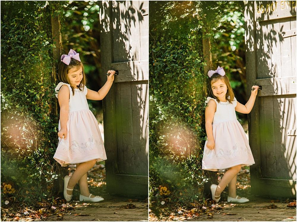 """We found this little """"secret garden"""" type door and just couldn't resist!"""