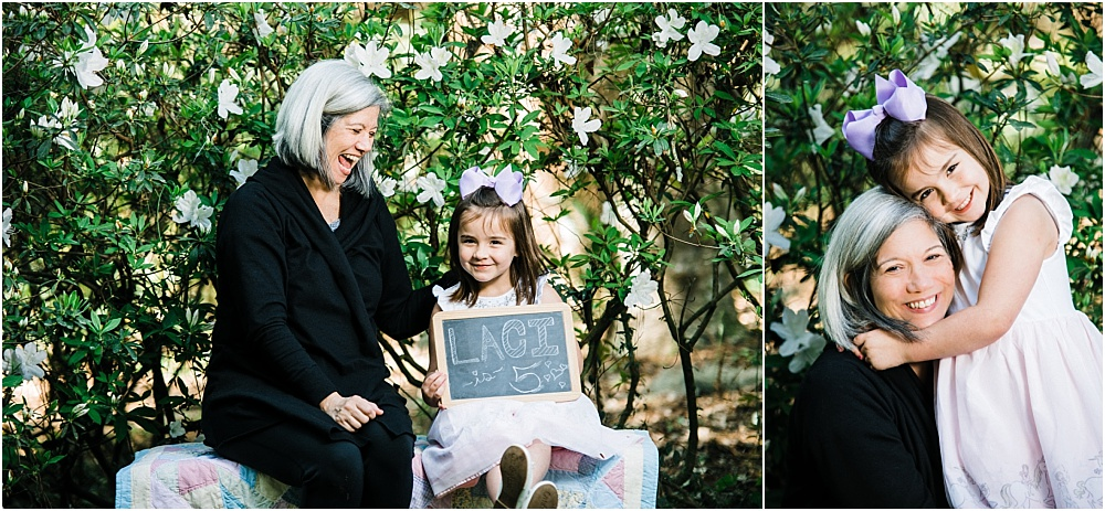 """We just couldn't complete the shoot without getting a few shots of her and her """"Nana"""". What a sweet relationship these two have."""
