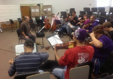 Having fun with strings! My Strings Class at Western Carolina University. 2012.