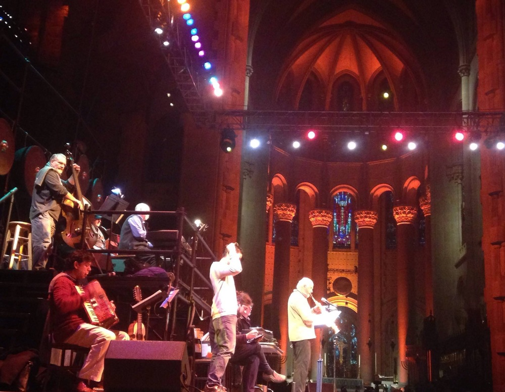 Tech rehearsals with Danny Rivera, Ricky Martinez and the Paul Winter Consort. Cathedral St. John 12/14.
