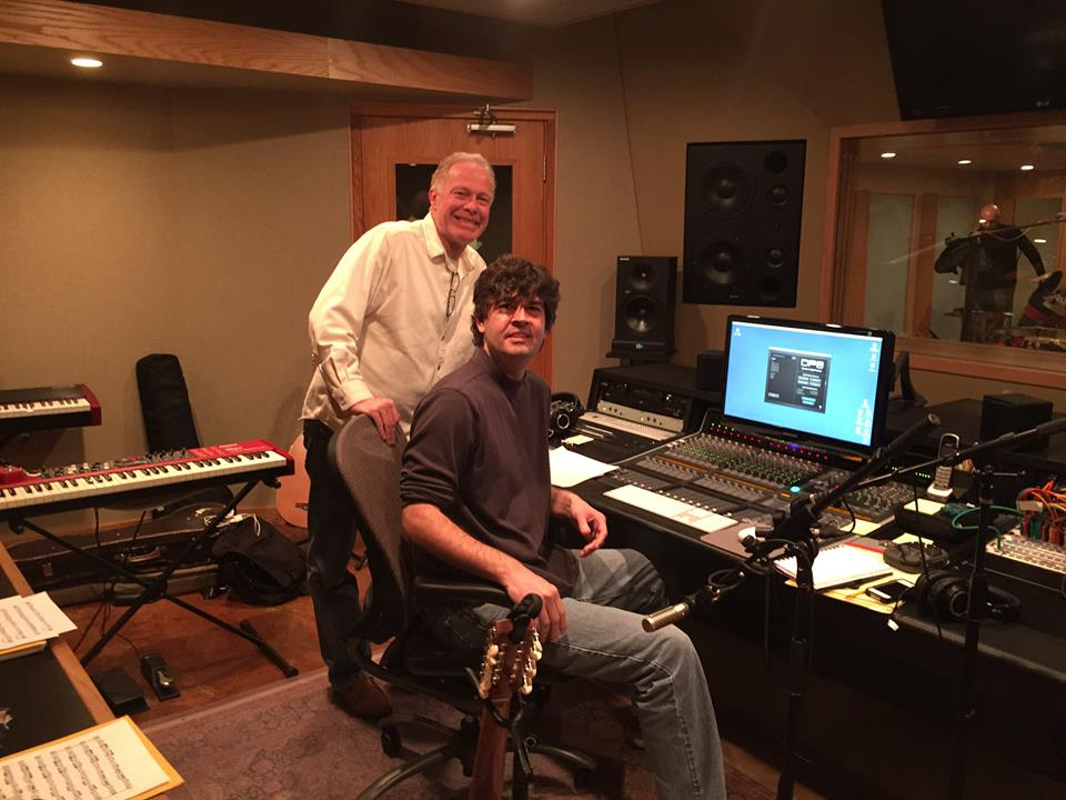 Robert George owner/engineer of Sound Temple Studios with Chris Rosser at the board of this beautiful studio in Western North Carolina.