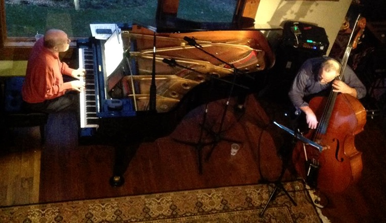 In performance with the great jazz pianist Michael Jefry Stevens. House concert Asheville, NC  3/14/15