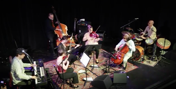 Free Planet Radio and the Opal String Quartet in performance Isis Restaruant and Music Hall, Asheville,  NC     8/28/2015