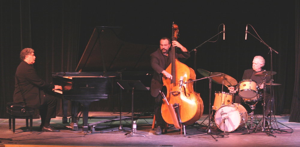 Jazz pianist Hal Galper, Eliot and Dave Rudolph on drums. February 2005