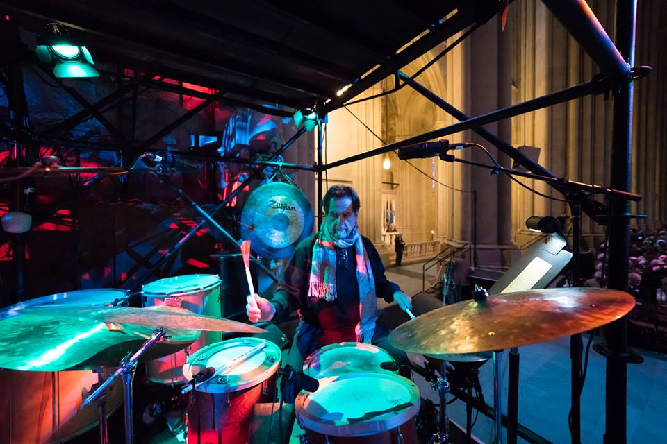 The master of time travel Jamey Haddad, Cathedral St. John the Divine Winter Solstice Concert 2017