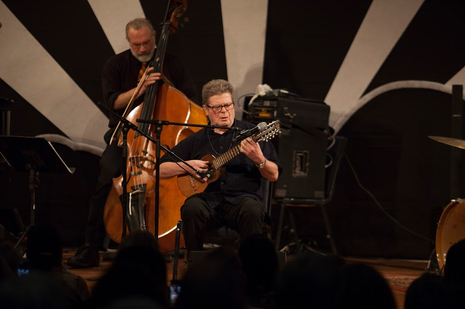 Broke Back Mountain and Babel film compose Gustavo Santaolalla in performance with Free Planet. Gladdening Light Symposium, Winter Park Fl. 2018