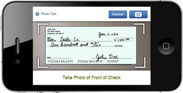 Cash a check from you mobile phone