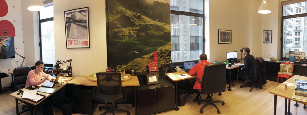 The swissnex Boston office in New York with a refreshed look.