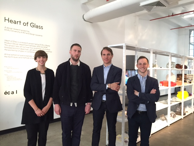 From left to right: Cécile Vulliemin (swissnex Boston), Camille Bline (ECAL), Alexis Georgacopoulos (ECAL), Oliver Haugen (swissnex Boston New York Outpost)