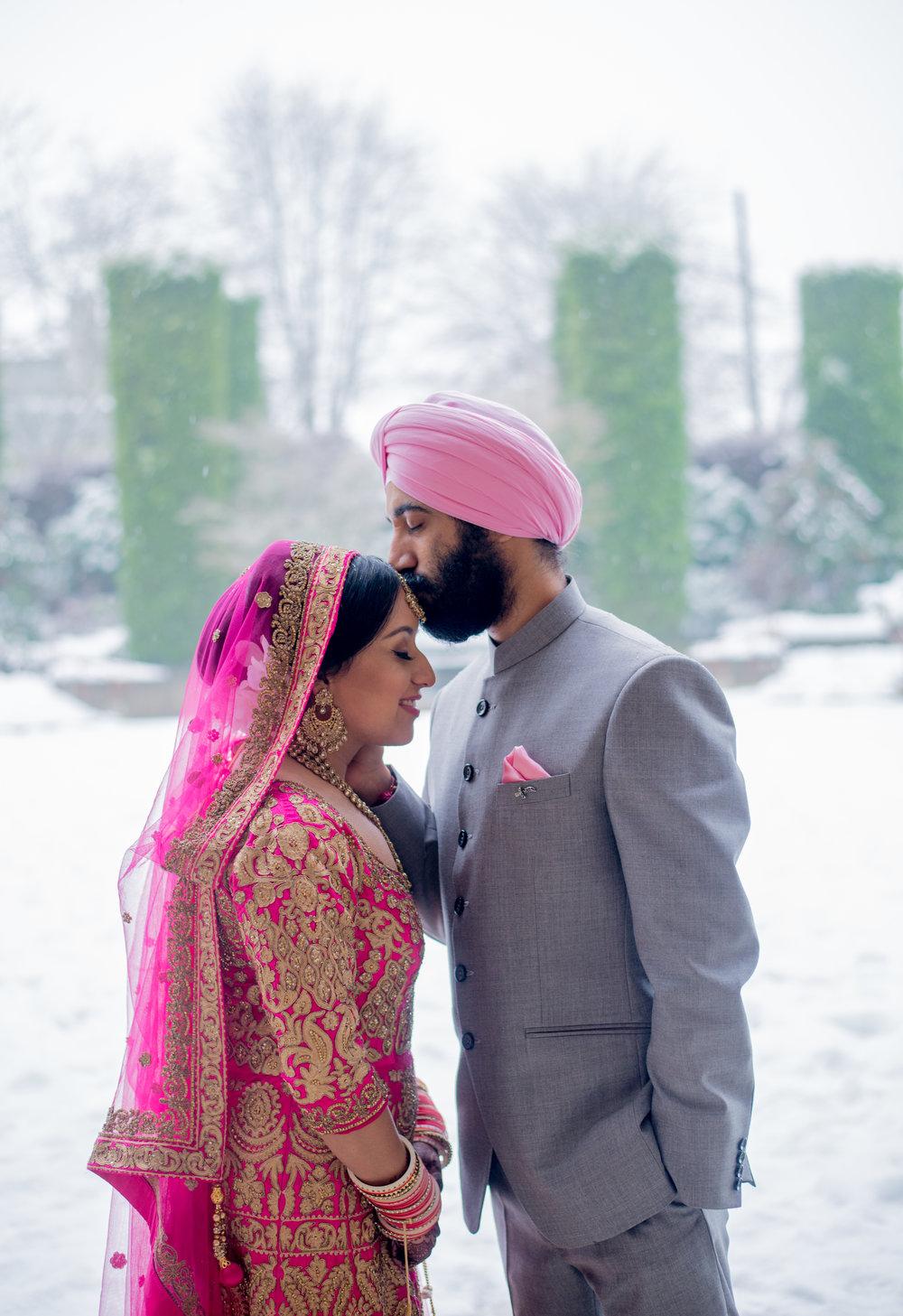 PREETY & AMAR - Sikh wedding ceremony on a snowy New year's eve