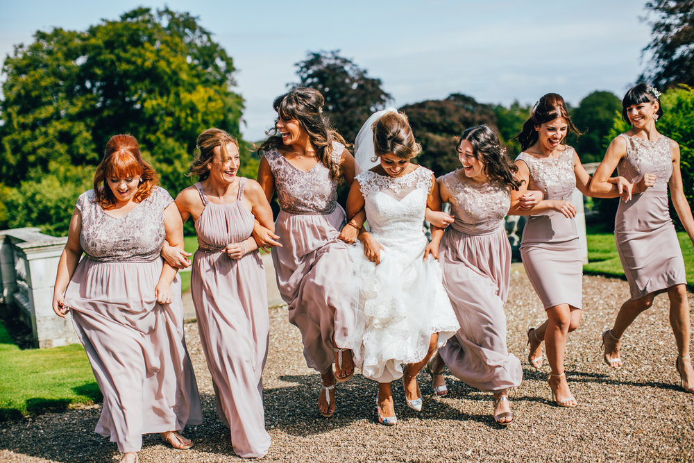 BRIDAL FUN AT SLEDMERE HOUSE NORTH YORKSHIRE