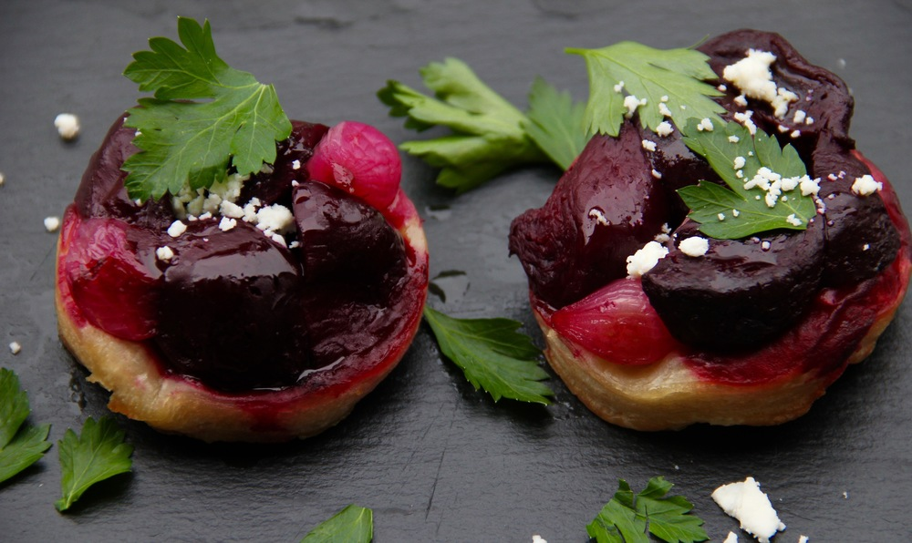 Shelley's version of Fearnley-Whittingstall's Beet Tart Tatin