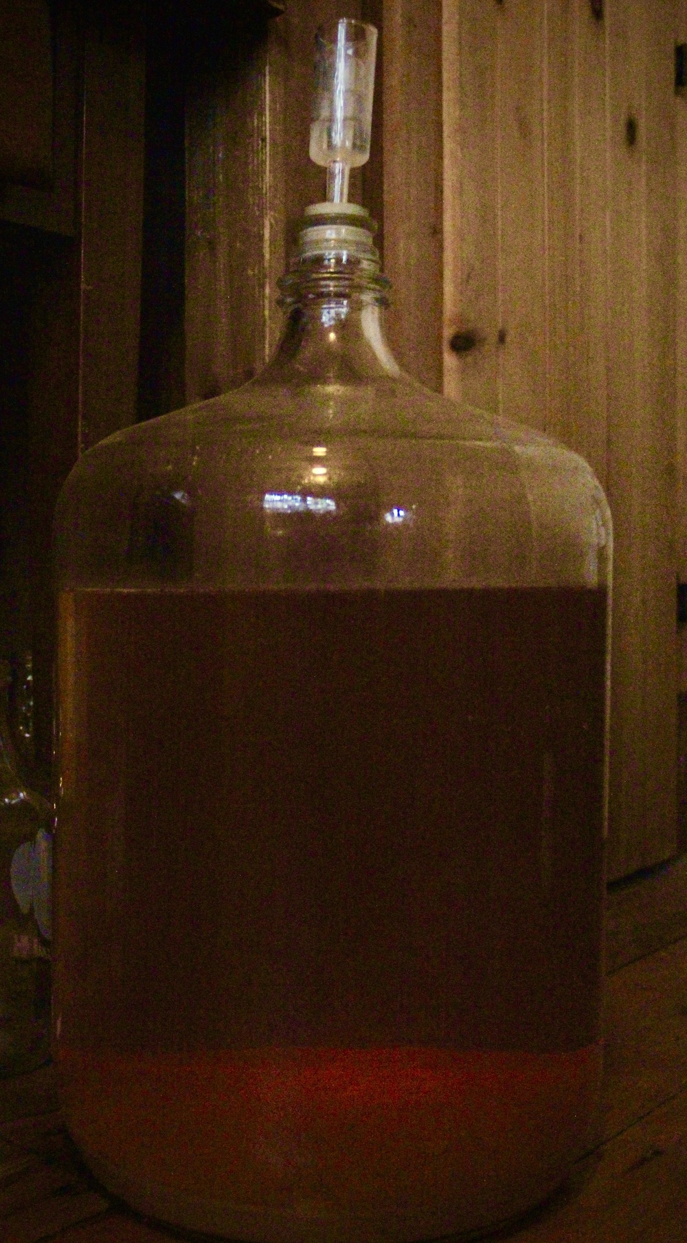 Hard cider, ready for the bottle.