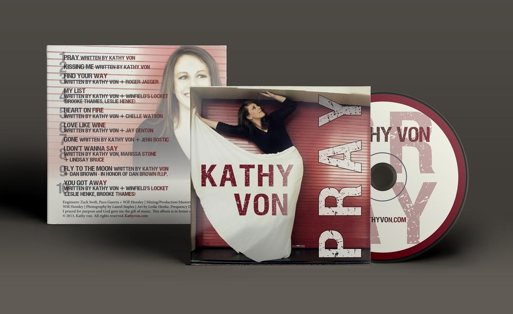 KATHY VON Album Cover Design CD Release Invitations Booking Promo