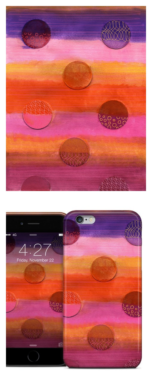 "Watercolor ""Dots3"" series, available as phone case"