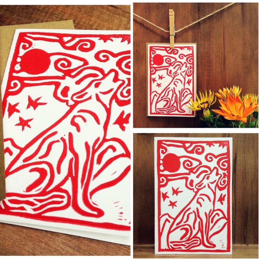 "Wild Wolf - Blank Notecard 4""x6"" Cardstock"