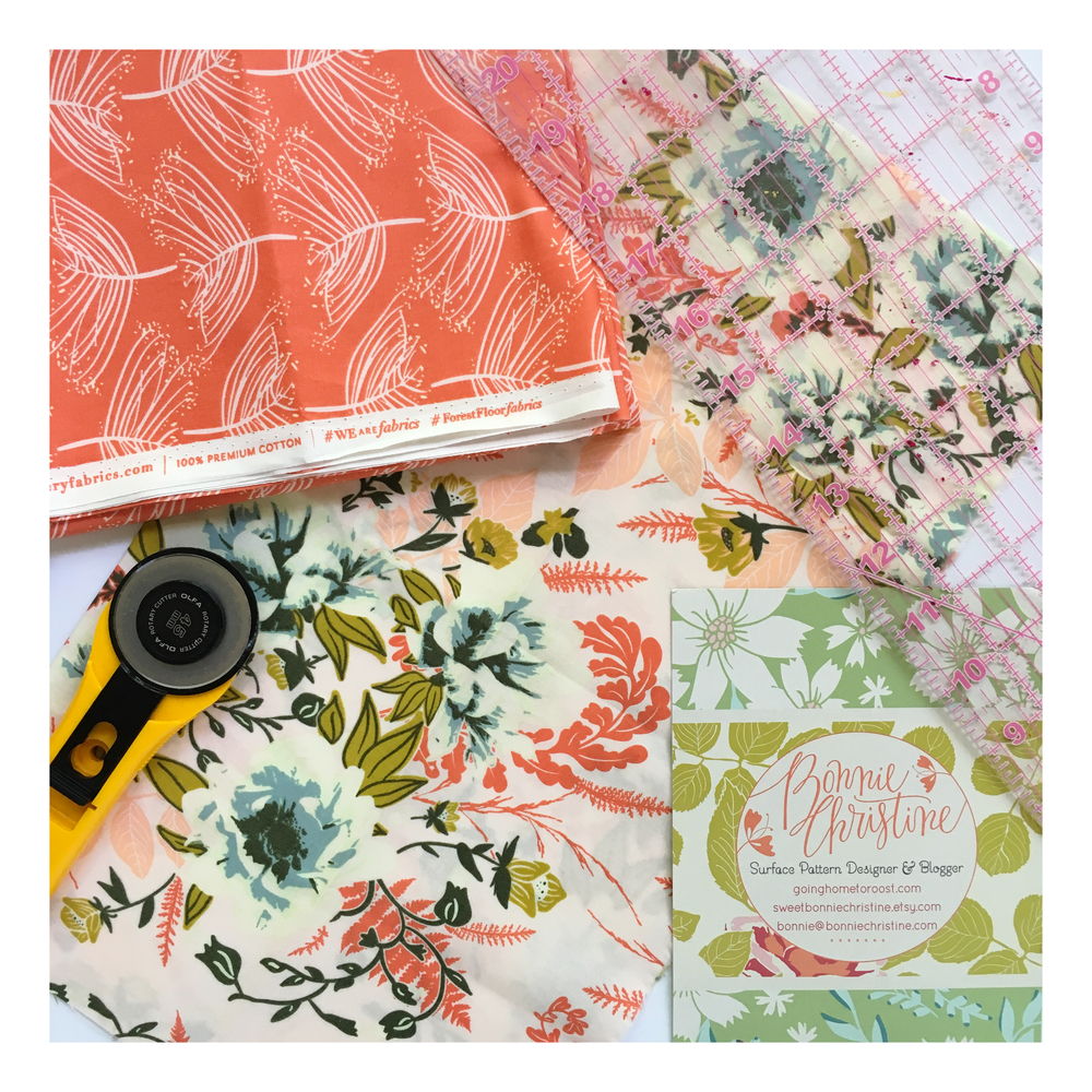 """Laced Sunset"" and ""Wild Posy Flora"" fabrics"