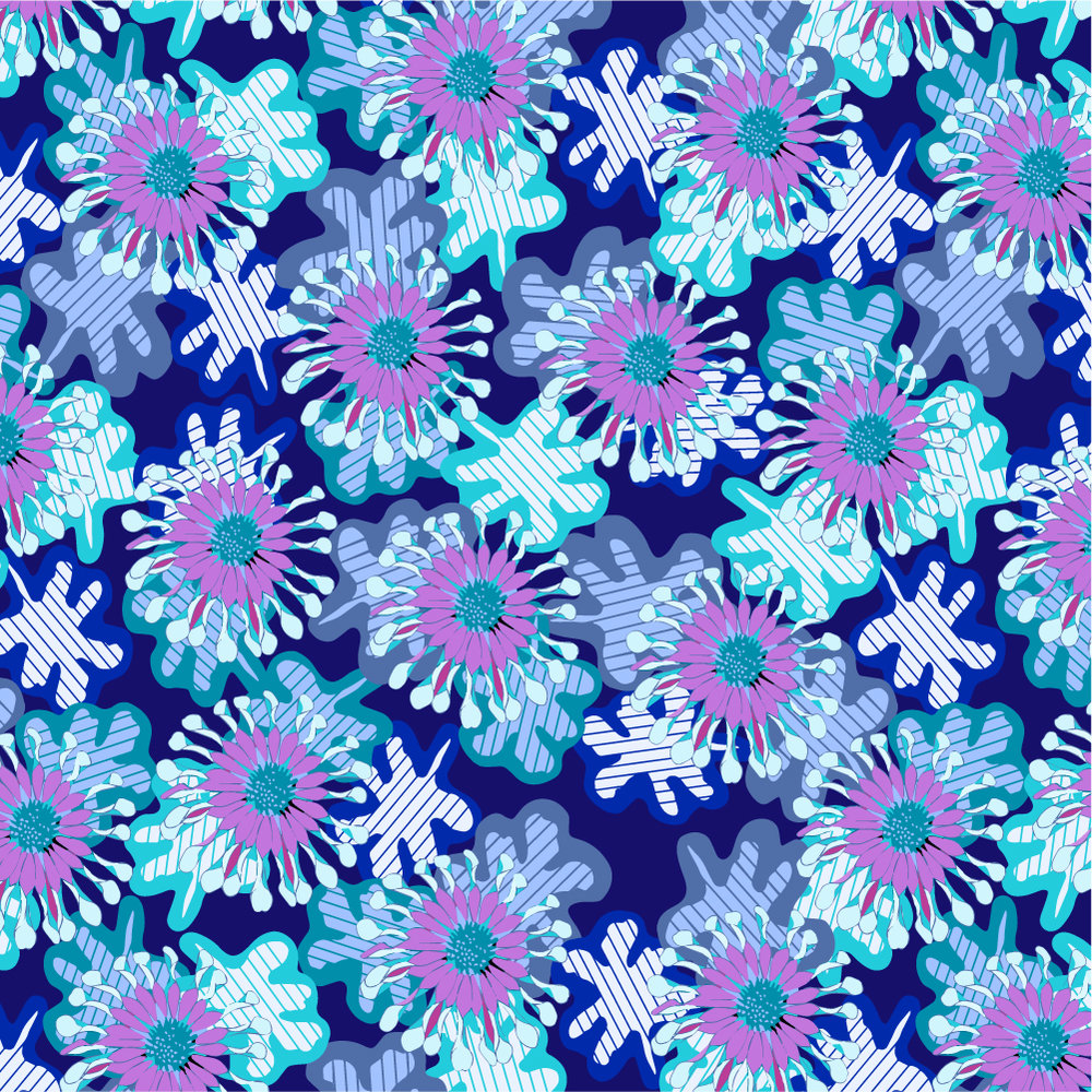 NEW - Swim wear inspired patterns available for license