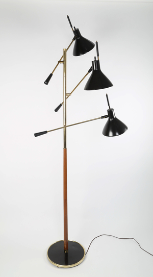 Gerald Thurston for Lightolier 3-arm floor lamp — Full Circle Modern