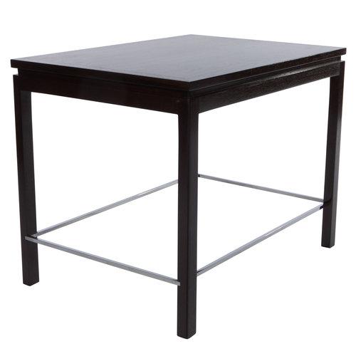 292050b1c30a Edward Wormley for Dunbar walnut side table with chrome stretchers ...