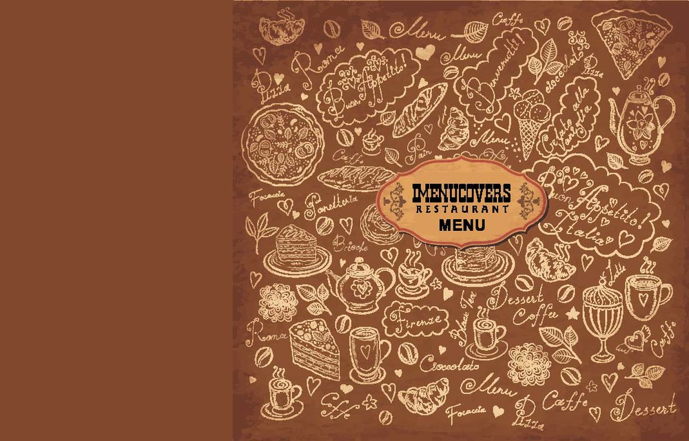 Menu covers leather color print linen custom restaurant – Sample Bakery Menu Template