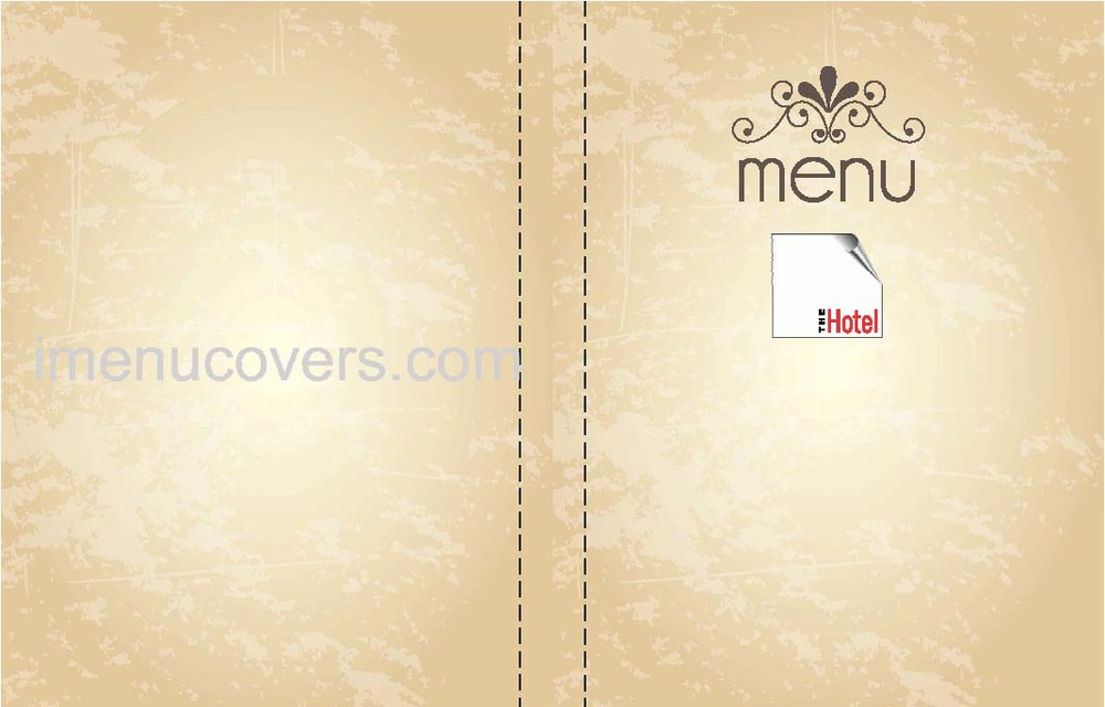 Menu Covers Leather Color Print Linen Custom