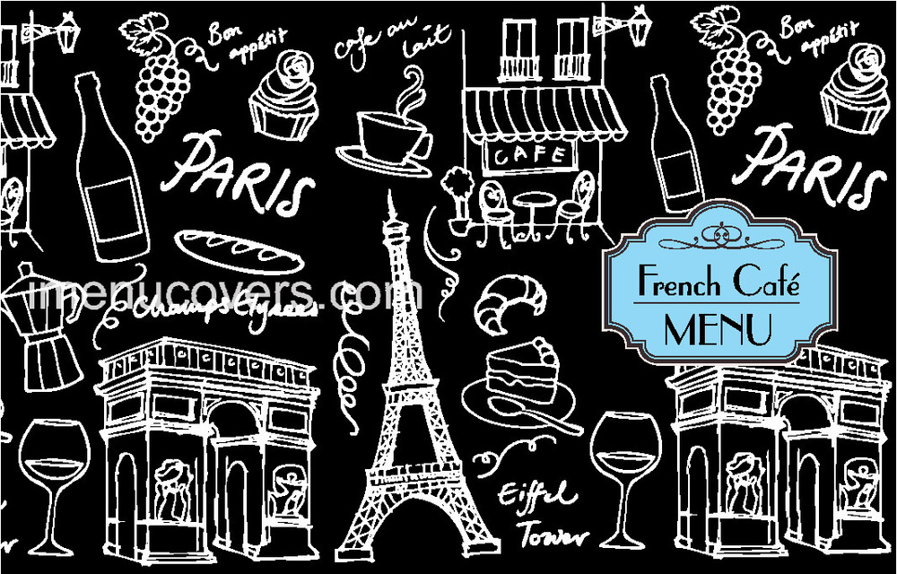 french cafe menu template - menu covers leather color print linen custom