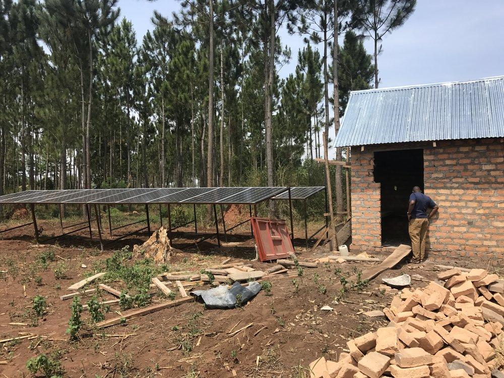 Solar Panels and Battery house (still in progress)