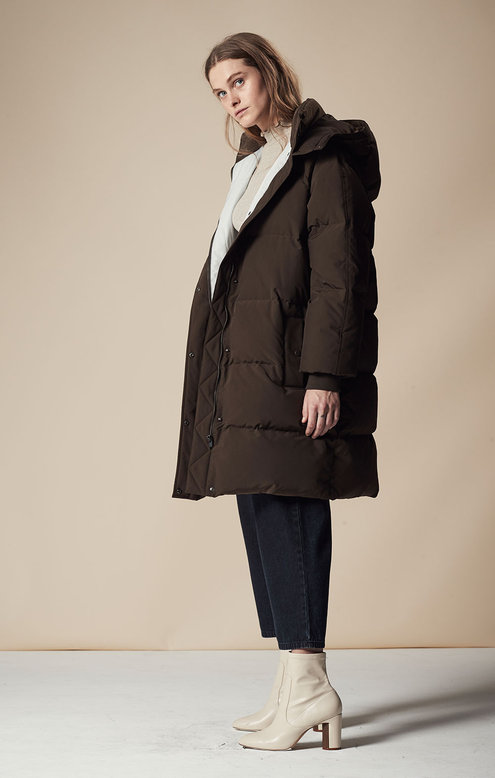 Oversized Long Down Parka FBJ065-OLV