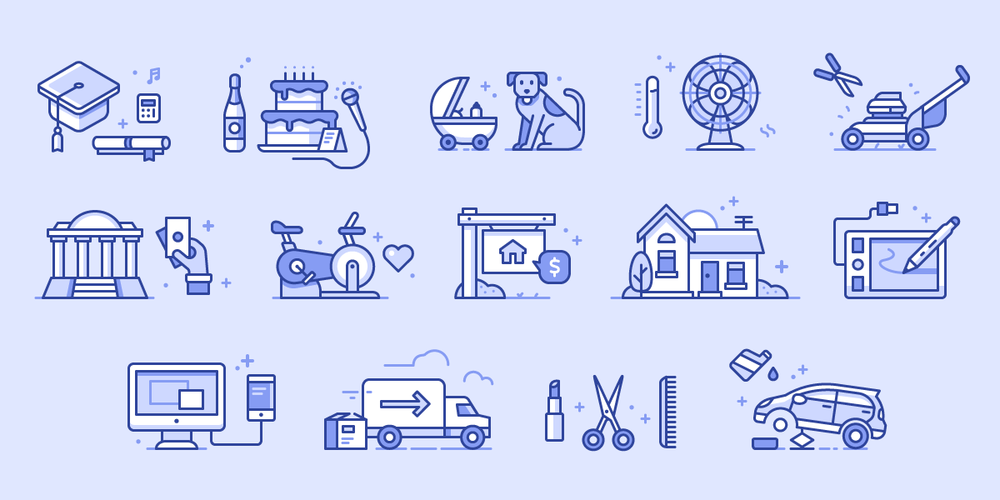 Raly Service Icons Client Work