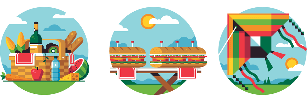 Picnic Spot Illustrations  Client Work