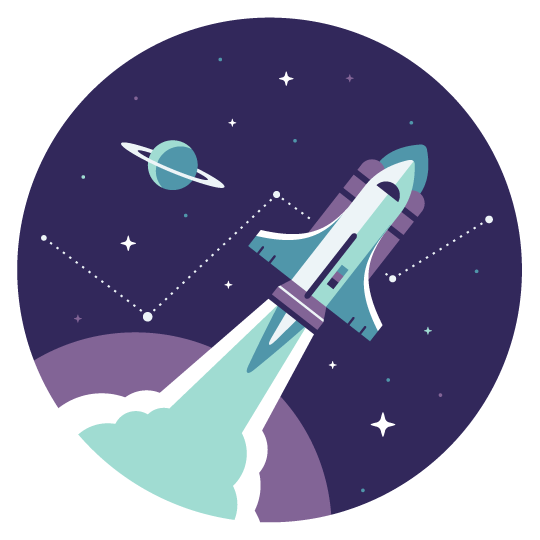 Baremetrics: Rocket Illustration Client Work