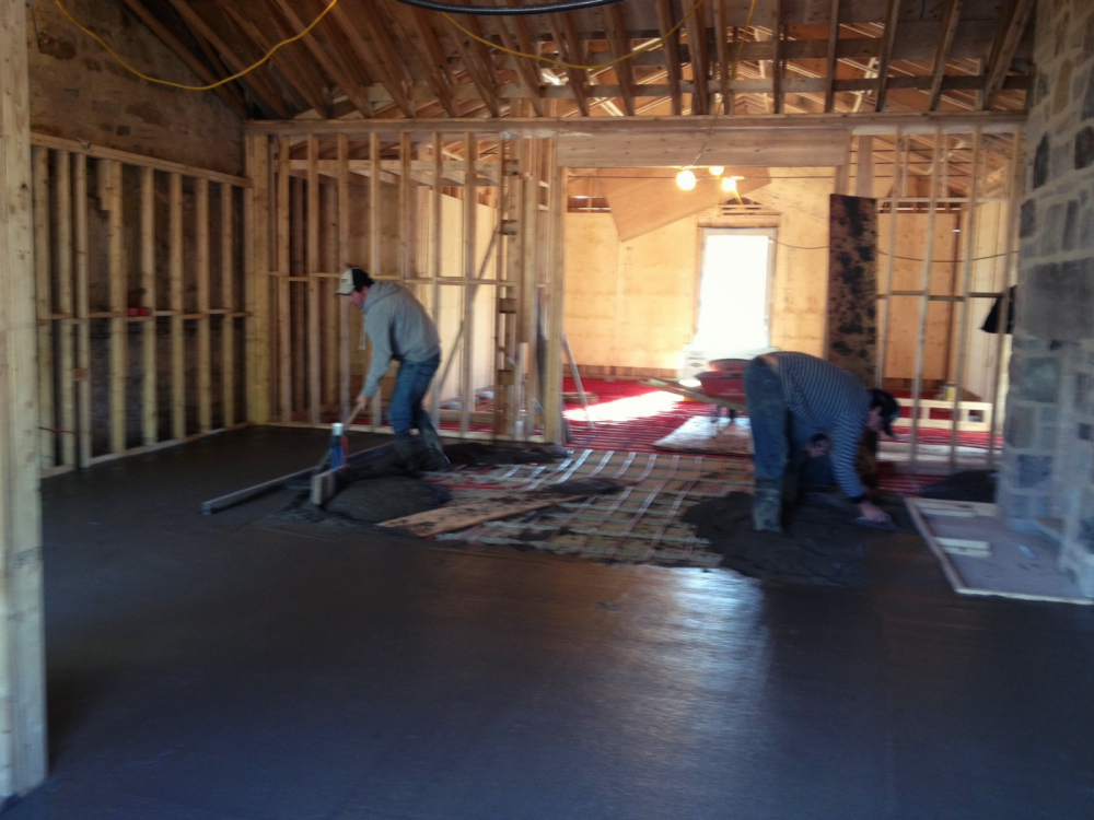 Sunroom - radiant floor heating