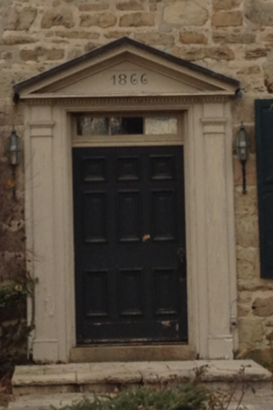 Original front door- Installed 1866