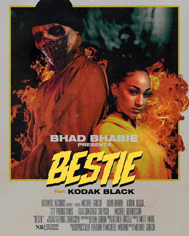 Designed this poster for @bhadbhabie 's Bestie Video . . . . . #graphicdesign #design #art #digitalart #glitch #glitchart #graphicdesigner #designer #artist #creative #vintage #instagood #retro #color #gradient #abstract #abstractart #ohcool #popart #bestie #bhadbhabie