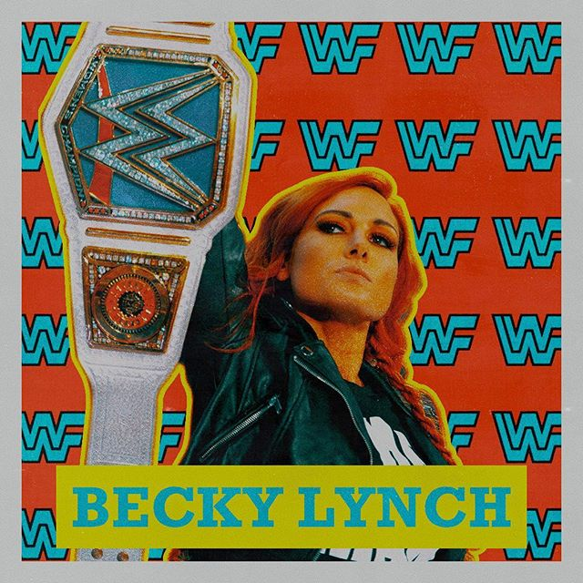 Made this in the style of the old trading cards @beckylynchwwe . . . . . #wwe #beckylynch #sdlive #raw #graphicdesign #design #art #digitalart #glitch #glitchart #graphicdesigner #designer #artist #creative #vintage #instagood #retro #color #gradient #abstract #abstractart #ohcool #popart