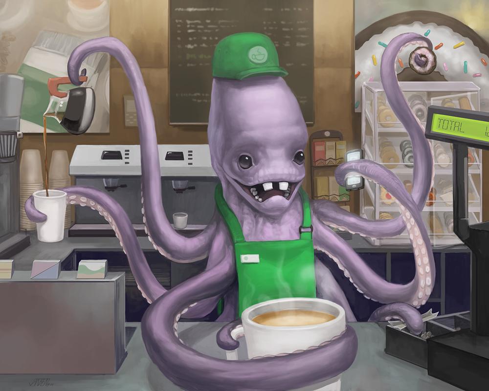 Octopus Barista