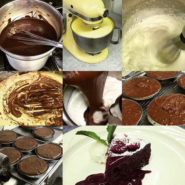 Flourless Chocolate Cake In The Making....2/3/2019.