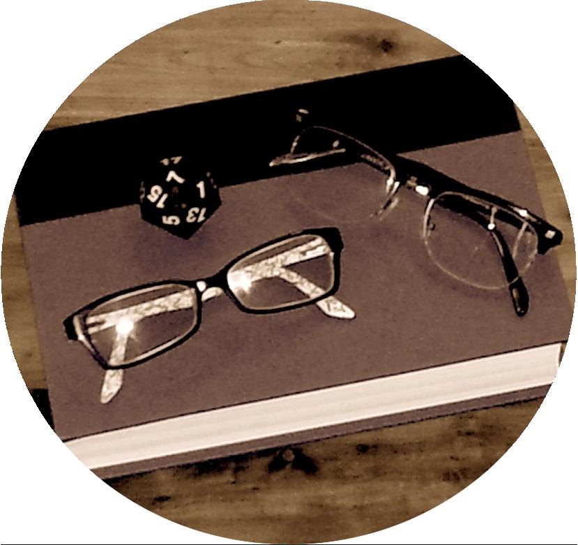 4. Books/Glasses logo