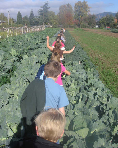 Lane County kids enjoy some farm to school activity in Oregon's Willamette valley.  Credit: Willamette Food and Farm Coalition