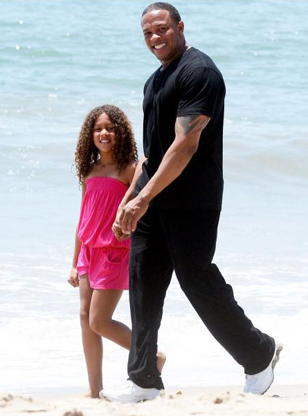 Photo of Dr. Dre & his  Daughter  Tyra Young