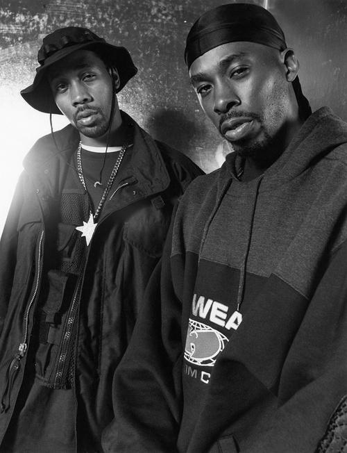 Photo of RZA & his friend musician  GZA - Wu-Tang Clan