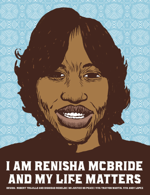 "thepeoplesrecord :      We demand justice: The racist killing of Renisha McBride   November 18, 2013    A 19-year-old African American woman is dead for the ""crime"" of asking for help after a car accident in a predominantly white suburb of Detroit.   Renisha McBride was shot in the head with a shotgun in the early morning hours of November 2. She had been in a car crash and—with her cell phone dead and bleeding from a wound on her head—was seeking help from residents.   According to reports, 54-year-old Theodore Wafer shot Renisha through the screen door of his home. Wafer didn't call police until an hour later—at which point, he claimed to have fired in self-defense. He then changed his story, claiming the shotgun went off by accident—only to change it back again when prosecutors filed murder and manslaughter charges against him.   Contrary to initial reports, Renisha was shot not in the face but the back of the head, as she turned to leave,  according to the  Detroit Free Press  —another contradiction of Wafer's self-defense claim. Likewise,  initial reports said Renisha's body had been ""dumped,""  but police later said it was found on the porch.   Renisha's murder is being compared to the Trayvon Martin case, and for good reason—Wafer is using ""Stand Your Ground""-style self-defense laws to try to escape punishment by claiming that he felt threatened by Renisha.   Although her death was ruled a homicide, Wayne County Prosecutor Kym Worthy didn't file charges for 13 days, during which time police and the mainstream media kept the killer's identity secret. Worthy reportedly refused an initial request for a warrant by Dearborn Heights police, saying more investigation was needed.   Detroiters didn't take the same do-nothing attitude toward Renisha's murder.   On November 7,  about 50 people gathered outside police department headquarters in Dearborn Heights . Dawud Walid, executive director of the Michigan chapter of the Council on American Islamic Relations, spoke for the crowd when he asked: ""Had she been a white woman and the shooter a black man, would the shooter be sitting comfortably at home watching TV today?""   Two days later, some 200 people attended a rally, organized by the National Action Network, on the West Side of Detroit. Another protest was held a week later, on December 16, organized by the Detroit Coalition Against Police Brutality and the International Socialist Organization.   Faced with this mounting pressure, Worthy finally filed charges against Wafer, including second-degree murder and manslaughter.   Now that charges have been filed against Wafer, the media are taking another page out of the Trayvon Martin case and are putting the victim on trial. Mainstream outlets are reporting on toxicology reports showing that the alcohol level in Ranisha's blood was past the legal limit for intoxication—and unconfirmed tests showing marijuana in her system. As if that justifies her execution by shotgun for seeking help.   Worthy insisted that the decision to charge Wafer had ""nothing whatsoever to do with the race of the parties""—but no one who looks at the case can take that seriously.  As journalist Rania Khalek wrote at her blog , Renisha was ""a Black woman from Detroit, which is 82 percent Black, whereas Dearborn Heights, the area she was shot in, is 86 percent white.""   Anyone who has protest police violence and racism in Detroit is familiar with the double standards applied to Black and white, including by Kym Worthy, who is African American.   Worthy, for example, wasn't so cautious about filing charges with Charles Jones, the father of Aiyana Jones,  the seven-year-old girl murdered by Detroit police in her sleep three years ago . Shortly after Aiyana's death during a police raid on her home, Charles was charged with providing the gun used in another murder. Although the only ""evidence"" against him was the testimony of a jailhouse snitch  that had been thrown out by a judge , Jones has been held without bail for three years as Worthy continually postponed his trial.   The prosecutor assigned to Jones' case is the very same one as for his daughter's killer, which Worthy denies is a conflict of interest . In the case of Aiyana's killer, the prosecutor's office somehow managed to select an all-white jury from a predominantly Black area for the cop's first trial, which ended in a mistrial.   This is only another example of a justice system that treats Black life as less valuable—something made gruesomely clear once every 28 hours—the rate at which African Americans are killed by police, security guards or vigilantes,  according to a report by the Malcolm X Grassroots Movement .   It goes without saying that a Black man who killed a white woman on his porch would be put in jail right away. The news media wouldn't be printing statements from his neighbors about how he's a ""good man"" who ""never bothered anybody."" Wafer wouldn't have been released on 10 percent of a $250,000 bond and described as a ""low risk to the community""—and the media wouldn't be talking about whether he reasonably believed his life was in danger.    Full article  Illustration by Robert Trujillo, Dignidad Rebelde"
