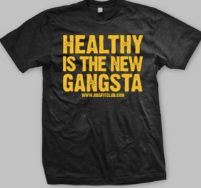 itsjonib: Healthy is the New Gangsta! That is my favorite phrase lately! Thanks to Stic.man from Dead Prez for coming up with this catching slogan, embracing health and following a vegan lifestyle. Having met Dead Prez about 10 years ago, I'm so happy to see this work! Support!!