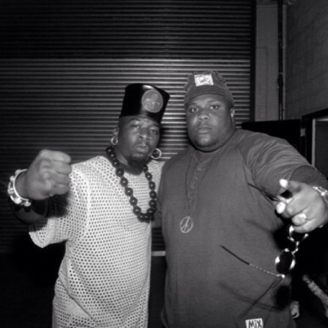 Backstage. 1992. #Chicago with #BrotherJ of #XClan … The #ChubbRock #Hiphopbio is now up on the site as MANY of u have requested!! http://hiphopsmithsonian.com/chubb-rock